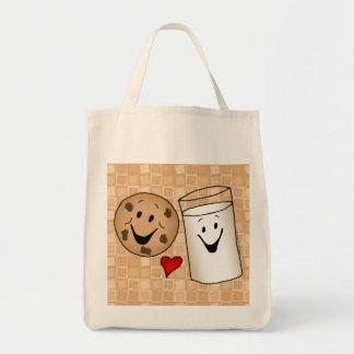 Cookies and Milk Friends Cartoon Reusable Shopping
