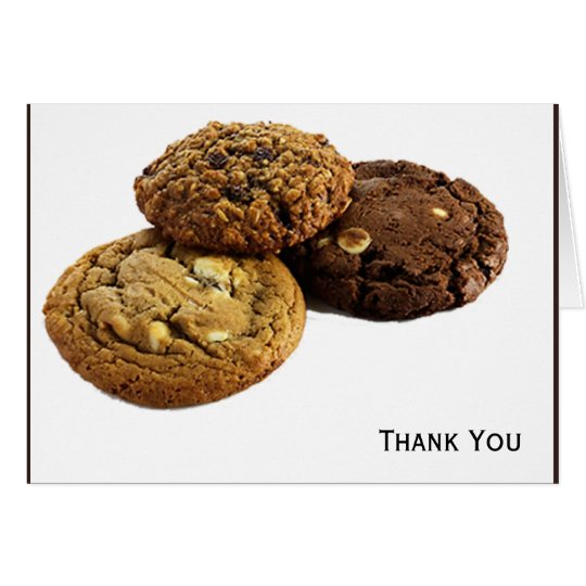 Cookies and Other Delicious Desserts on White Card