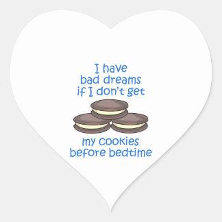 Cookies Before Bedtime Heart Sticker