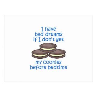 Cookies Before Bedtime Postcard
