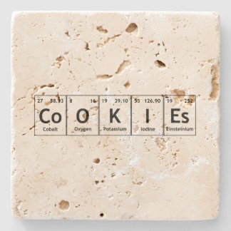 CoOKIEs Chemistry Periodic Table Words Elements Stone Coaster