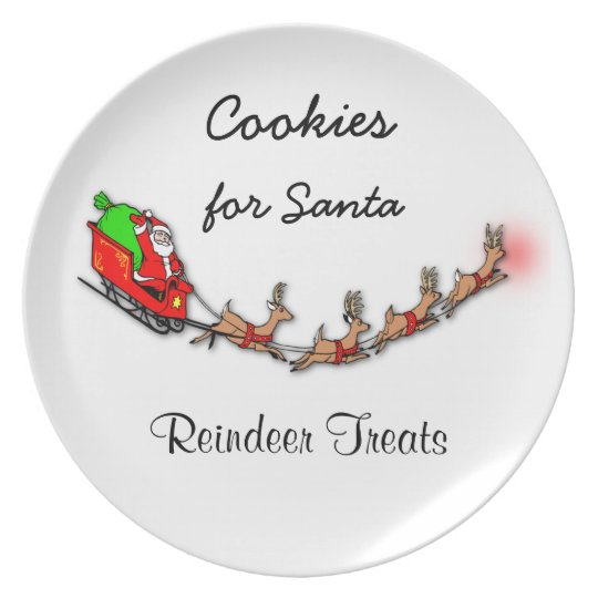 Cookies For Santa And Reindeer Treats Plate