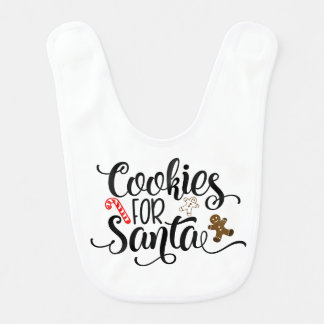 Cookies for Santa Baby Bib