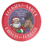 Cookies For Santa, Carrots Reindeer, Personalised Plate