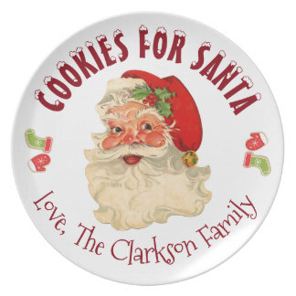 Cookie's For Santa Party Plate