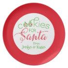 """Cookies for Santa"" Personalised Christmas Plate"