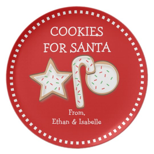 Cookies For Santa Personalised Cookie Trio Plate