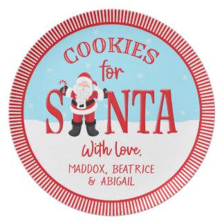 Cookies for Santa - Personalised Plate