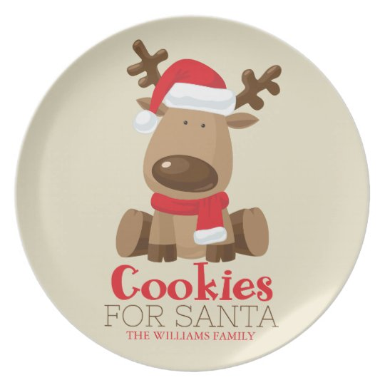 Cookies for Santa | Reindeer Plate