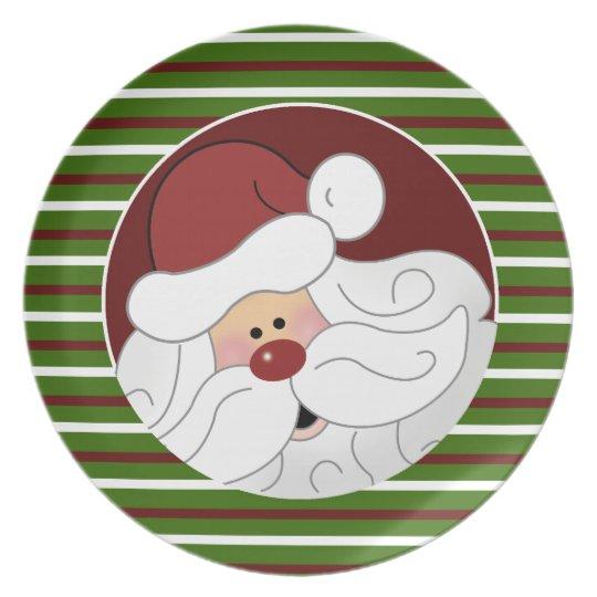 """Cookies for Santa """"Santa Claus"""" Plate {Green}"""