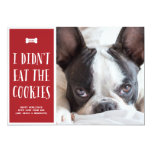 "Cookies | Holiday Photo Card 5"" X 7"" Invitation Card"