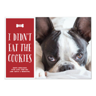 Cookies | Holiday Photo Card 13 Cm X 18 Cm Invitation Card