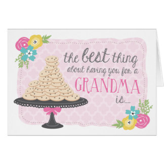 Cookies & Hugs Mother's Day Card for Grandma