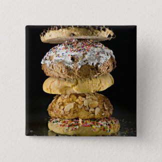 Cookies in a stack 15 cm square badge