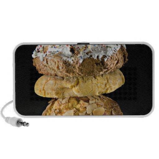 Cookies in a stack notebook speaker