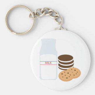 Cookies Milk Key Chain