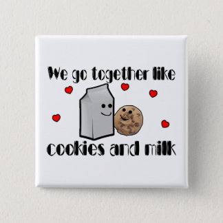 Cookies & Milk Love 15 Cm Square Badge