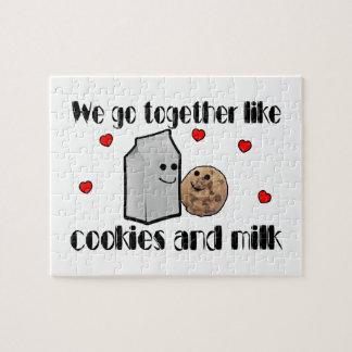 Cookies & Milk Love Jigsaw Puzzle