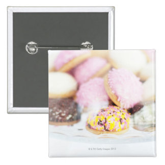 Cookies on table 15 cm square badge