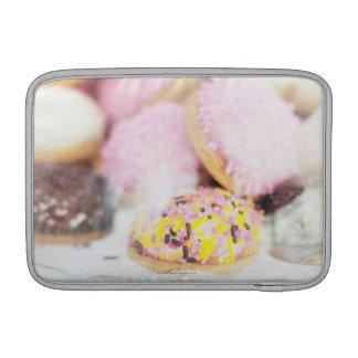 Cookies on table sleeve for MacBook air