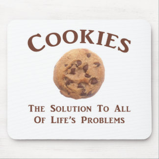 Cookies solve Problems Mouse Mat