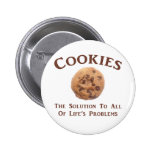 Cookies solve Problems Pinback Button