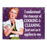 Cooking and Cleaning Postcards