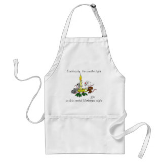 Cooking by  the candles light standard apron