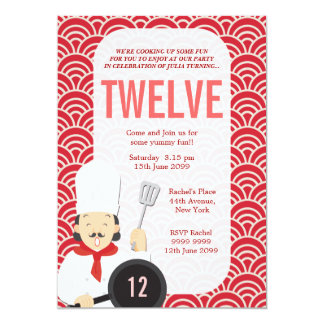 Cooking Chef Kitchen Birthday Invite