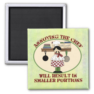 Cooking Chef Square Magnet