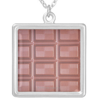 Cooking Chocolate Silver Plated Necklace