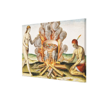 Cooking Food in a Terracotta Pot Canvas Print