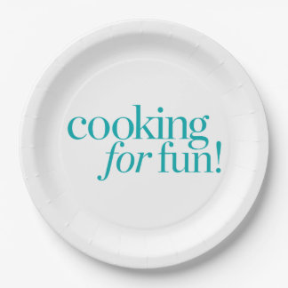 Cooking For Fun 9 Inch Paper Plate