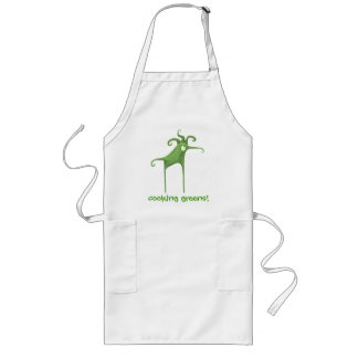 cooking greens long apron