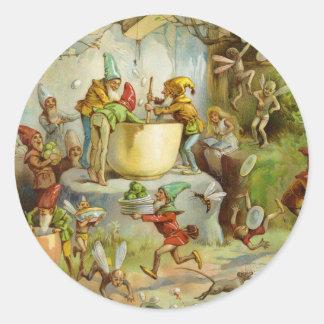 Cooking In The Gnome Kitchen Round Sticker