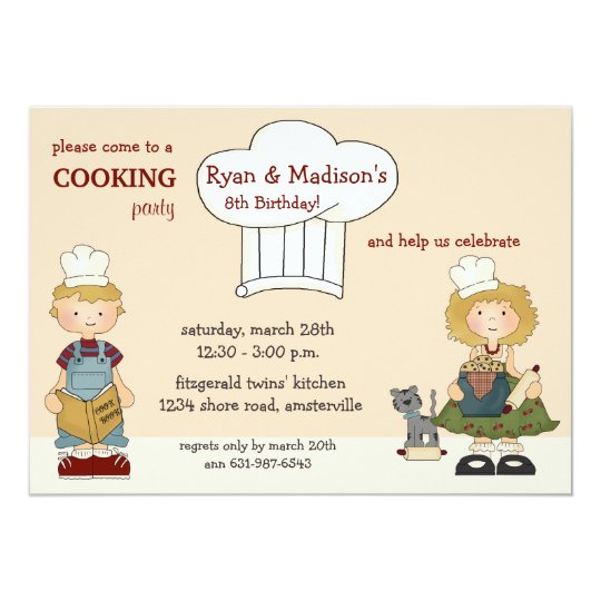 Cooking Kids Invitation