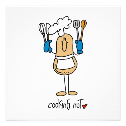 Cooking Nut T-shirts and Gifts Invite