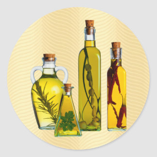 Cooking Oils Round Sticker