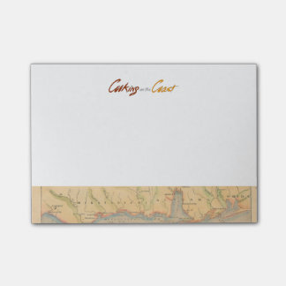 Cooking on the Coast | Post-It Notes with Map