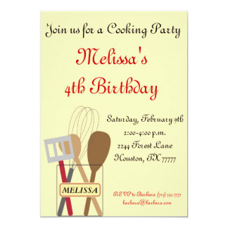 Cooking Party Invitation