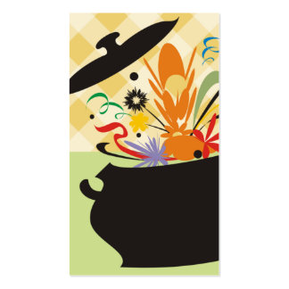cooking pot flavor burst chef catering business ca business cards