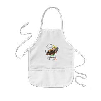 Cooking Pug Kids Apron
