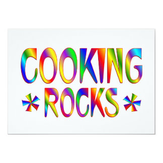 Cooking Rocks Personalized Invitations