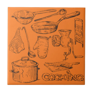 Cooking Small Square Tile