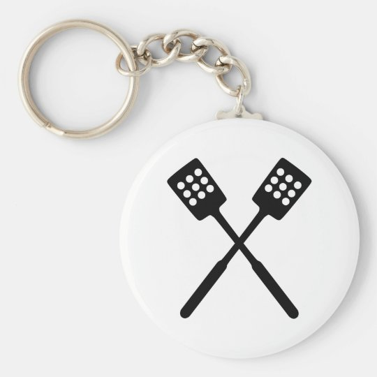 Cooking - Spatula Basic Round Button Key Ring