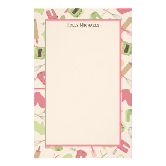 Cooking Themed Personalized Stationery