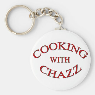 cooking with chazz christmas basic round button key ring