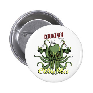 Cooking with Cthulhu 6 Cm Round Badge