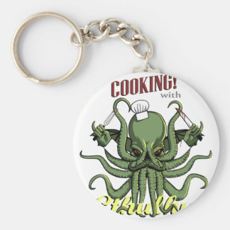 Cooking with Cthulhu Basic Round Button Key Ring