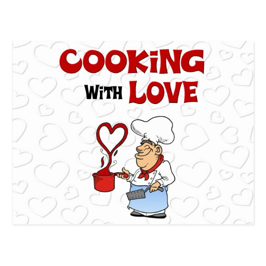 Cooking with Love Postcard